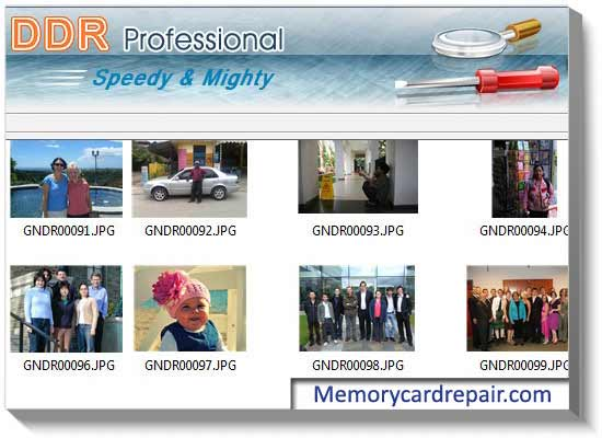 Memory Card Recovery screenshot