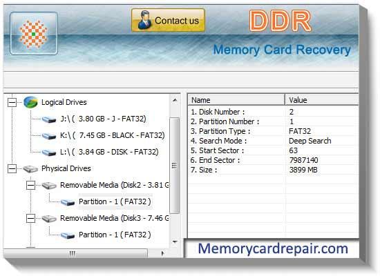 Windows 7 Free Memory Card Repair 4.0.1.6 full
